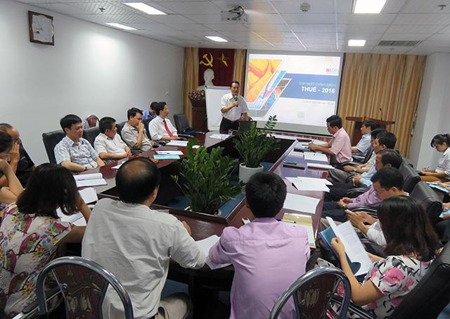 Ông Bùi Văn Mai phát biểu khai mạc khóa cập nhật chính sách thuế