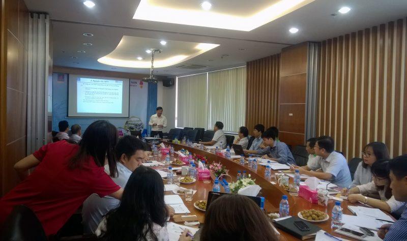 Ông Nguyễn Thế Thọ - Vụ trưởng Vụ Giám sát- UBCKNN trao đổi với Ban lãnh đạo PGS về các nội dung liên quan đến công bố thông tin